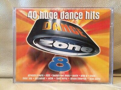 Dance Zone Level 8 - 40 Huge Hits RARE 1996 Double Tape House Techno Deep House