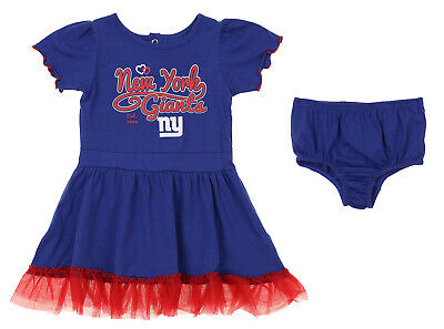 Outerstuff NFL Infant / Toddler Girls New York Giants Love Dress Two Piece Set