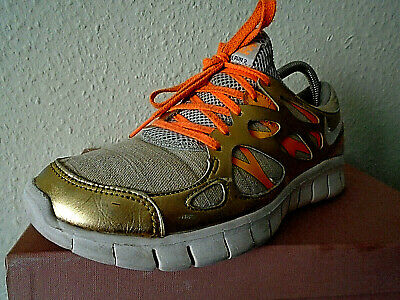 Details about Women's Nike Free Run 2 Running Shoes Size 9.5 Orange Gold 555340 202