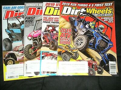 "LOT OF 4.... ""DIRT WHEELS"" magazines... 2018 & 2019... Great condition..."