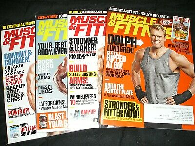 "LOT OF 4.... ""MUSCLE & FITNESS"" magazines... 2018 & 2019... Great condition..."