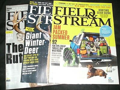"LOT OF 3.... ""FIELD & STREAM"" magazines... 2018 & 2019... Great condition..."