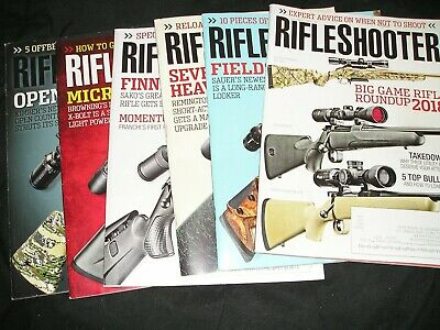 "LOT OF 6.... ""RIFLE SHOOTER"" magazines... 2018 & 2019... Great condition..."