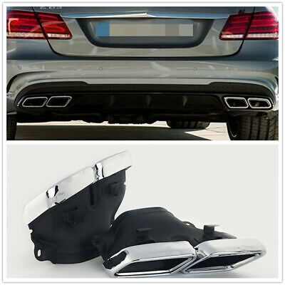 Fits 12-15 Mercedes-Benz W222 W212 S65 S63 Exhaust Muffler Tips Pipe AMG Style