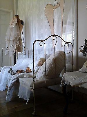 Original Antique French Iron Sofa/Daybed/Cot~Original paint Victorian 1800's