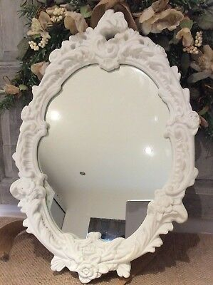 Vintage French Rococo /Chalk Paint Decorative Mirror ~Stunning Scroll Detail