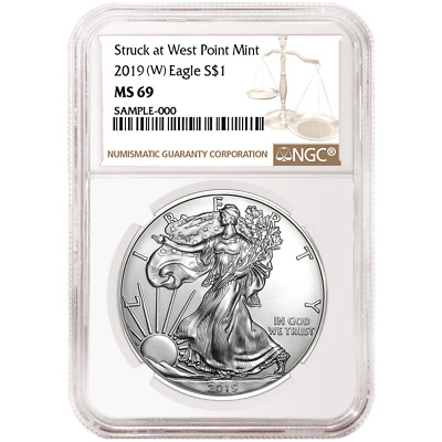 2019 (W) $1 American Silver Eagle NGC MS69 Brown Label