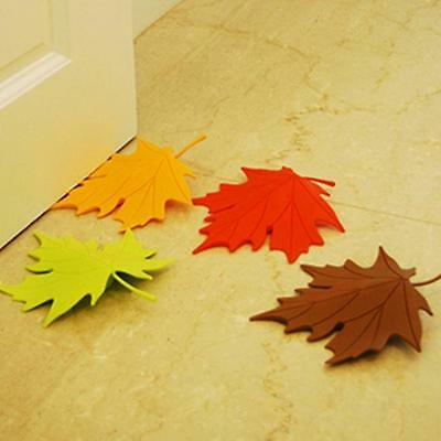 Multicolor Autumn Maple Leaf Home Decor Ornament Safety Door Stopper Doorstop KE