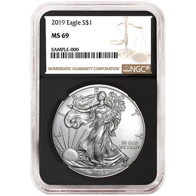 2019 $1 American Silver Eagle NGC MS69 Brown Label Retro Core