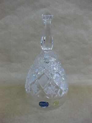 Vintage Bohemia Crystal Hand Cut Bell ~ 24% ~ Star Decoration ~ Czech Republic