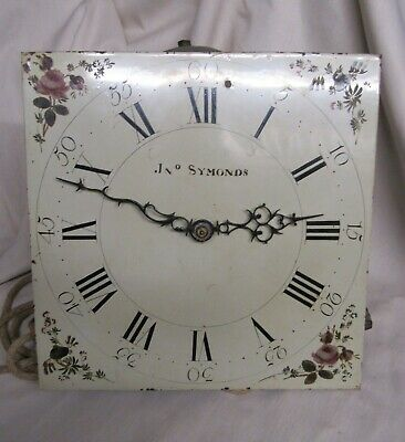 Antique grandfather clock dial and movement Jno Symonds