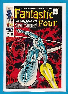 Fantastic Four #72_March 1968_Very Fine Minus_Silver Surfer_Silver Age Marvel!
