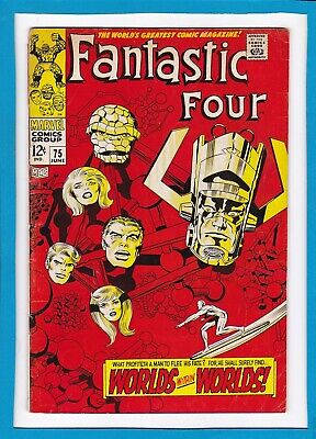Fantastic Four #75_June 1968_Good/very Good_Silver Surfer-Galactus_Silver Age!