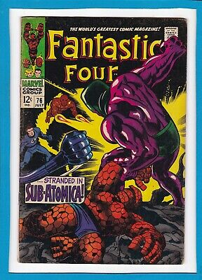 Fantastic Four #76_July 1968_Very Good_Silver Surfer_Galactus_Silver Age Marvel!