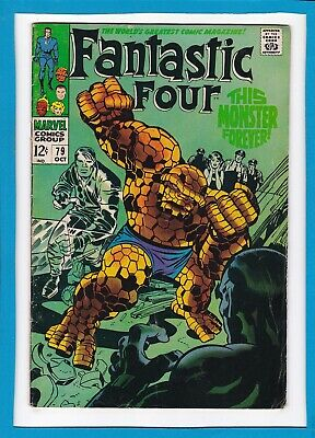 """Fantastic Four #79_Oct 1968_Fine_""""this Monster Forever""""_Silver Age Jack Kirby!"""