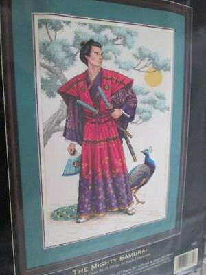 Dimensions Gold Collection Mighty Samurai Cross Stitch Kit-12x18 Inches/30x46 cm