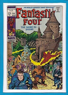 Fantastic Four #84_March 1969_Very Good/fine_Doctor Doom_Silver Age Marvel!