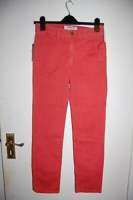 Quiksilver Straight Tapered Chinos Baked Apple Age 14 Years BNWT