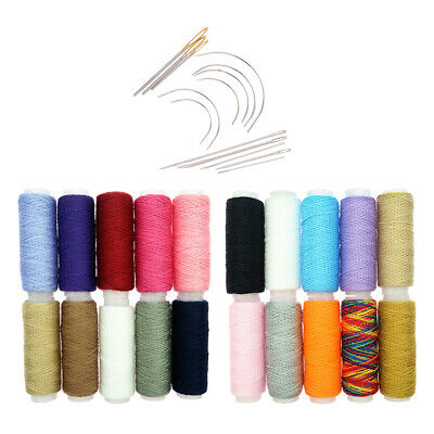 34Pcs Polyester Thread Spools Hand Sewing Needles for DIY Sewing Projects