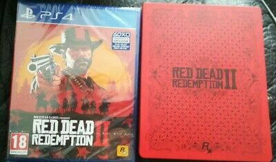 Red Dead Redemption 2 - Sony PlayStation 4 PS4 - NEW & Sealed with Steelbook