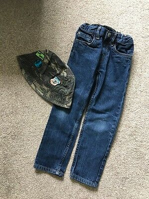 Slim Fit Jeans Adjustable Waist Age 4-5 Years H&M & Inc A Hat