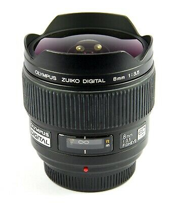 Olympus Zuiko Digital 8mm F/3.5 Fisheye Ultra-Weitwinkel Objektiv für Four-Third