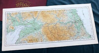 Vintage cloth OS MAP of SCOTLAND - DUMFRIESSHIRE, NORTHUMBERLAND - 1924,