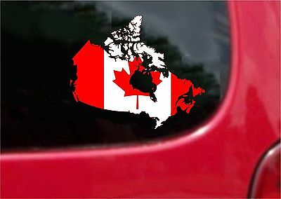 2 (PCS) Canada Outline Map Flag  Decals Stickers Full Color/Weather Proof
