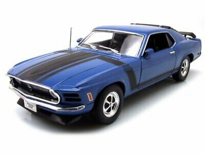 FORD Mustang Boss 302 - 1970 - blue - WELLY 1:18