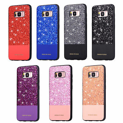 For Samsung Galaxy S10 Plus S9 Luxury Bling Glitter Diamond Silicone Case Cover
