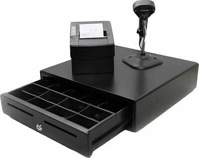 POS Hardware Pack with Thermal Receipt Printer, Cash Drawer & Scanner