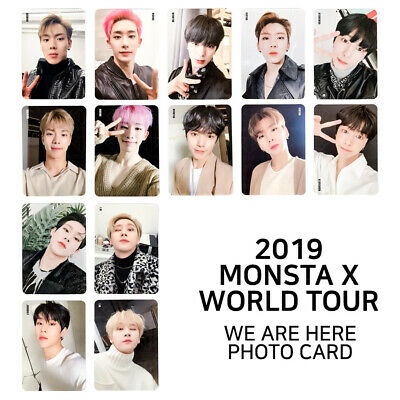 MONSTA X - 2019 MONSTA X WORLD TOUR WE ARE HERE Official Photo Card