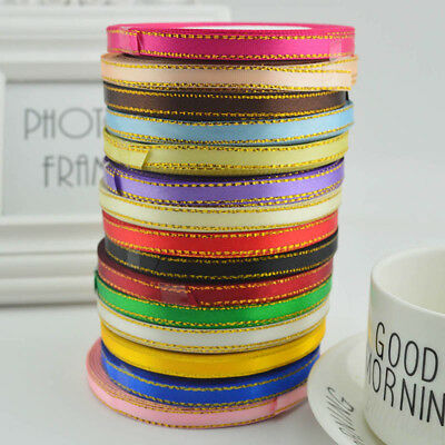 25 Yards Satin Grosgrain Ribbon Wedding Party DIY Hair Bow Decor Craft Trimmings