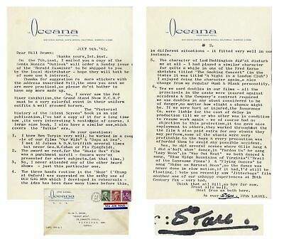Stan Laurel Typed Letter Signed with Excellent Content