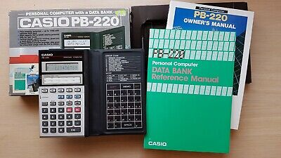 CASIO PB-220 Pocket Personal Computer, BASIC Calculator with Data Bank #415