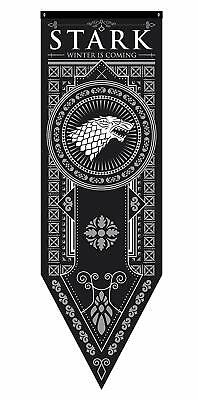"Game of Thrones House Stark Tournament Banner, 18""x 60"""