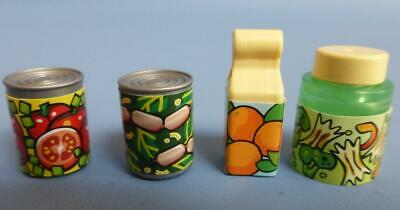 Playmobil Assorted food items  packet jar tins - House supermarket Shop NEW (C)