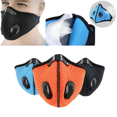 1Pc Respirator mask dust proof with filtered activated carbon biking mask_TI