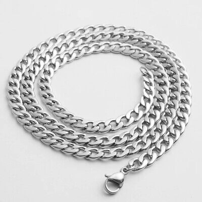 Men's Unisex 316L Stainless Steel 6MM Curb Link NK Necklace Chain Wholesale
