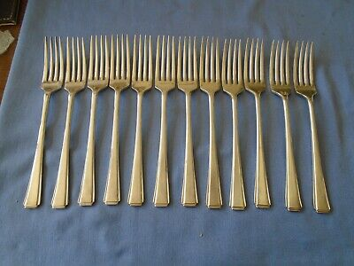 Job Lot Vintage Cutlery Set Of 12 Silver Plated Dinner Forks  19.5 Cm