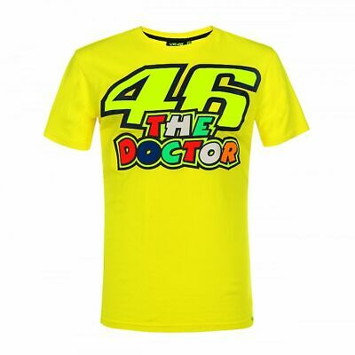Valentino Rossi VR46 Moto GP The Doctor Yellow T-shirt Official 2019