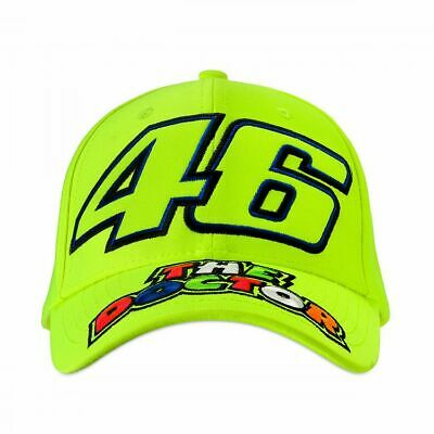Valentino Rossi VR46 Moto GP The Doctor Yellow Baseball Cap Official 2019