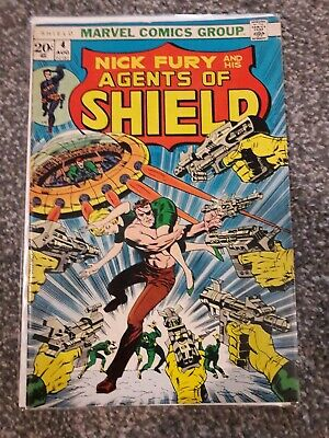 Nick Fury and his Agents of Shield #4 (Marvel, 1973) VG Nice Broze Age Fury