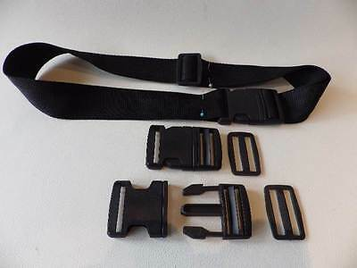 6 x Plastic Side Release Buckles & 6 x Slides For 25mm Webbing