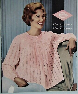 Vintage 1940s 50s Knitting Pattern Copley's ORIGINAL Women's Dressing Bed Jacket