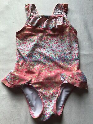 Girls Age 12-18 Months Swim Costume Mothercare Tiny Flowers And Frills Design