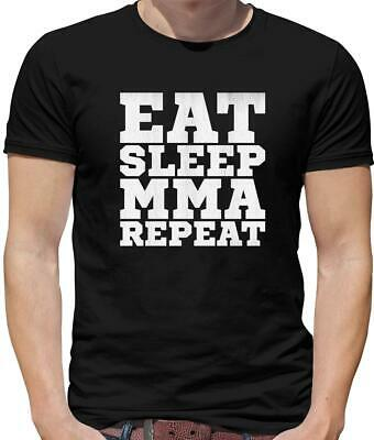 Eat Sleep MMA Repeat Mens T-Shirt - Mixed Martial Arts - Karate - Fighting