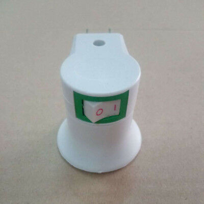 1 X E27 220V Wall Plug-in Screw Base Round Light Bulb Lamp Socket Holder Adaptor