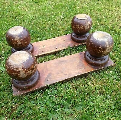 Set of 4 Victorian Pine Bun Feet Replacement Reclaimed Original