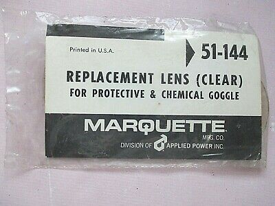 Marquette Plastic Safety Lens Replacement Clear Protective Goggle 51-136